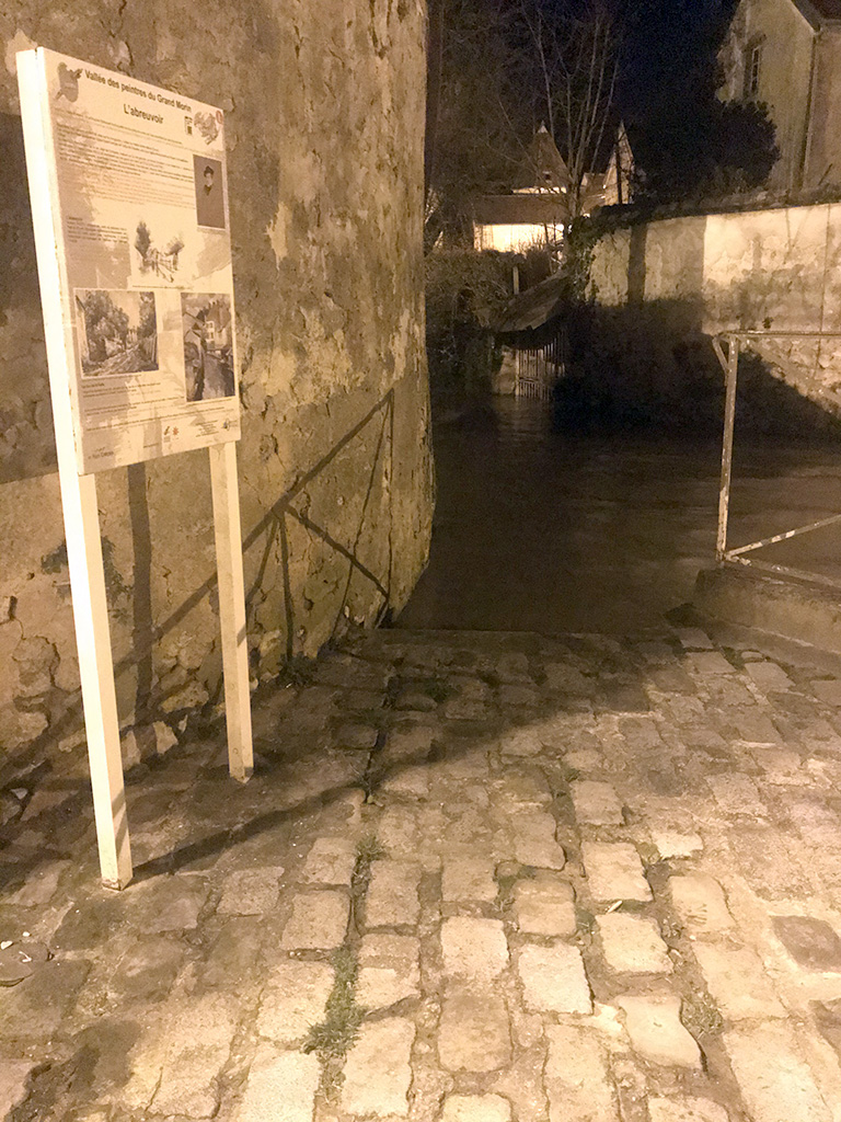27/02/2020 : Inondations limite débordement rue de la Halle